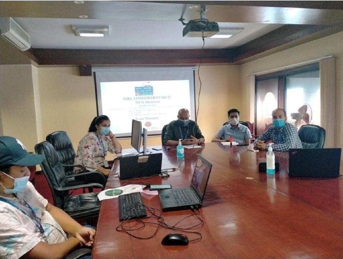 """""""एनआईबिएल समृद्धि फण्ड–२"""" योजनाको इकाईहरु बाँडफाँड"""